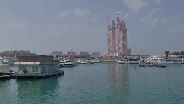 View of the Atlantis Hotel from Al Marina, Abu Dhabi, United Arab Emirates, Middle East, Asia