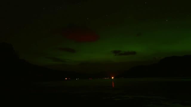 View of the Aurora Borealis Scotland