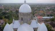 View of the church from the air