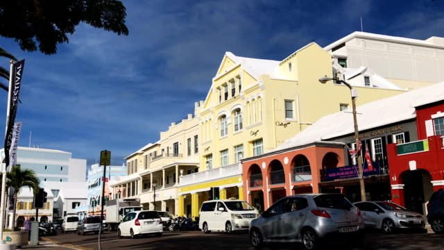 A view of the commercial and retail district along Front Street November 8 2017 in Hamilton Bermuda In a series of leaks made public by the...