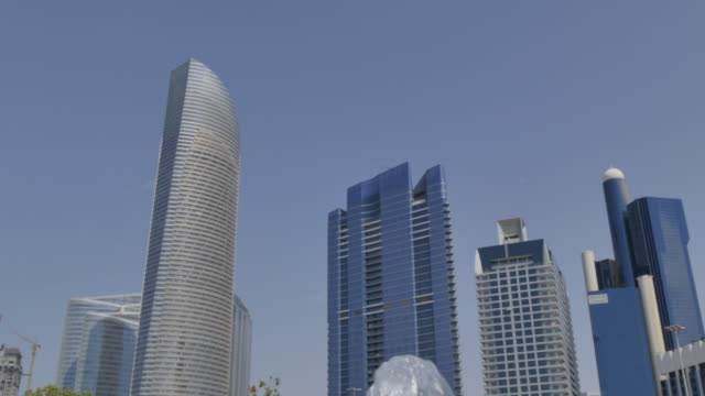 View of the Corniche and the Landmark building, Abu Dhabi, United Arab Emirates, Middle East, Asia