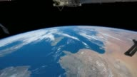 / view of the earth from the International Space Station / passes from the Tyrrhenian Sea east of Spain to central Libya View From Tyrrhenian Sea to...