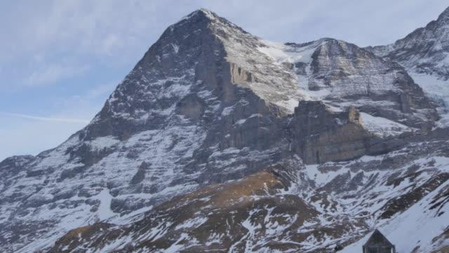 View of The Eiger, Jungfrau region, Bernese Oberland, Swiss Alps, Switzerland, Europe