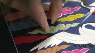 View of the embroidered at the clothes