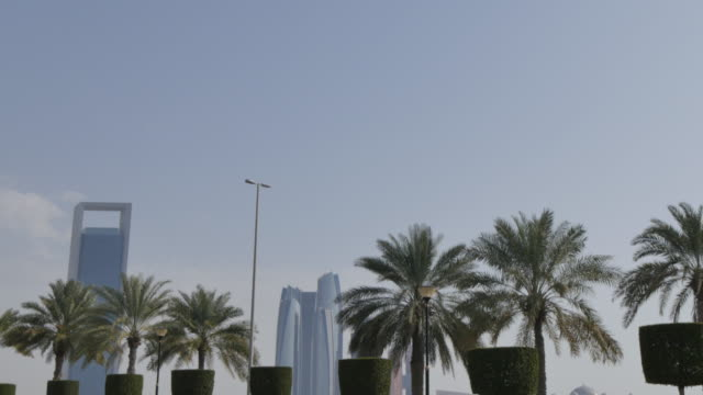 View of the Etihad Towers on the Corniche, Abu Dhabi, United Arab Emirates, Middle East, Asia