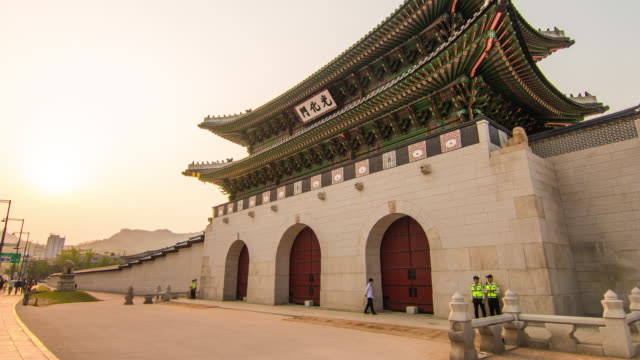 View of the Gwanghwamun gate(Famous historical place in Seoul City)