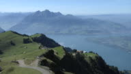 View of the Lake Lucerne from mount Rigi
