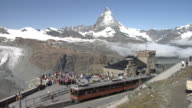 View of the Matterhorn and the Gornergrat railway station