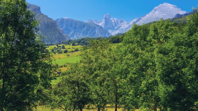 WS T/L ZI View of The Naranjo de Bulnes, Picos de Europa National Park / Picos de Europa, Asturias, Spain