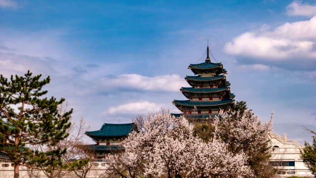 View of The National Folk Museum of Korea in Gyeongbokgung (Korean National Treasure 223)