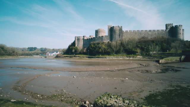 WS A view of the Pembroke Castle / Pembroke, Wales, United Kingdom