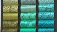 View of the various fabric sample