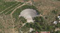 WS AERIAL ZI View of theatre of epidaurus / Epidaurus, Peloponnese, Greece