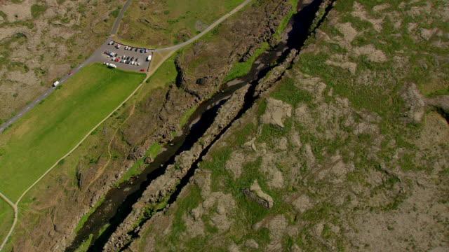WS AERIAL View of Thingvellir / Iceland