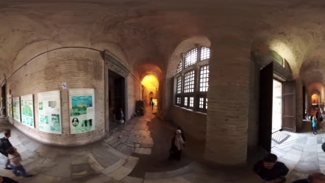 360 VR view of Topkapi Palace and museum in Istanbul Turkey October 20 2017 After the conquest of Istanbul by Mehmed the Conqueror at 1453...
