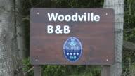 MS View of tourist board near city / Cromdale, Speyside, Scotland