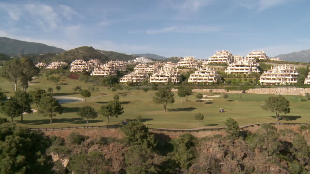 WS View of touristic urbanization with golf course / San Roque, Andalusia, Spain