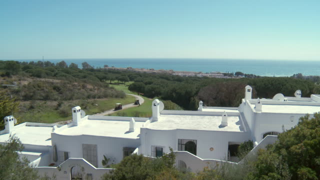 WS HA View of touristic urbanization with golf course / San Roque, Andalusia, Spain