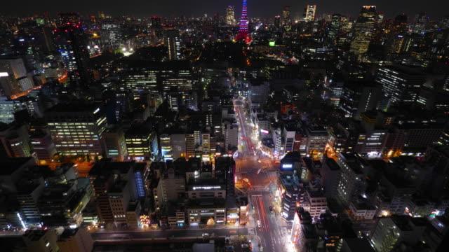 WS T/L TU View of tower light up / Minato ku, Tokyo, Japan
