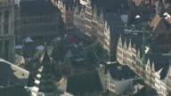 MS AERIAL ZI View of town hall in Antwerp / Flemish Region, Belgium