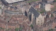WS AERIAL ZI ZO PAN View of town hall in city / Flemish Region, Belgium