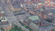WS AERIAL View of Town Hall tower / Copenhagen, Denmark