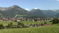 WS View of town located at Allgau Alps / Oberstdorf, Bavaria, Germany, Bavaria, Germany