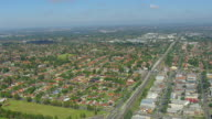 WS AERIAL View of town / Mascot, New South Wales, Australia
