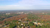 WS AERIAL View of town scape / North Carolina, United States
