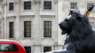 View of Trafalgar Square in central London