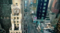 WS T/L View of traffic at Times Square / New York City, New York State, USA
