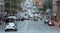 WS T/L View of Traffic in city / Sydney, CBD New South Wales, Australia