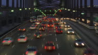 WS T/L View of traffic on freeway