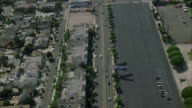WS POV View of traffic on Los Angeles Harbor freeway / Los Angeles, California, USA