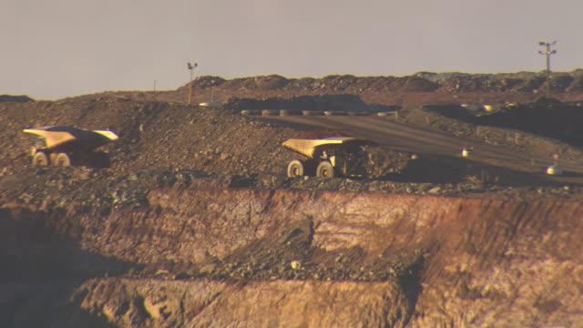 WS TS View of Truck carrying load / Coolgardie and Kalgoorlie, Western Australia, Australia