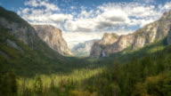 WS T/L View of tunnel view in front of valley / Yosemite, California, United States