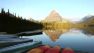 WS View of Two Medicine lake and glacier national park / Montana, United States