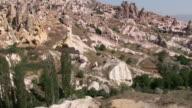 WS TU View of Uchisar hill and castle / Cappadocia, Nevsehir province, Turkey