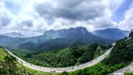View of Ulsan Rock of Mt.Seoraksan and highway