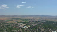 WS AERIAL View of University of Wyoming and surrounding area / Wyoming, United States