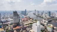 T/L WS HA PAN View of Urban Skyline / Bangkok, Thailand