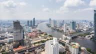 T/L WS HA ZO View of Urban Skyline / Bangkok, Thailand