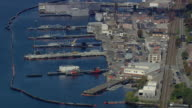 WS AERIAL ZI View of US Navy Submarine Force Museum / Connecticut, United States