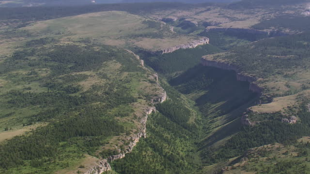 WS AERIAL View of valley / Montana, United States