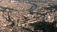 WS AERIAL View of Vatican in Vatican plaza  / Rome, Italy