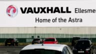 A view of Vauxhall's assembly plant in Ellesmere Port on March 6 2017 in Ellesmere Port England French car giant PSA Group have announced today the...