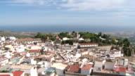 WS ZO View of village Mijas / Costa del Sol, Andalusia, Spain