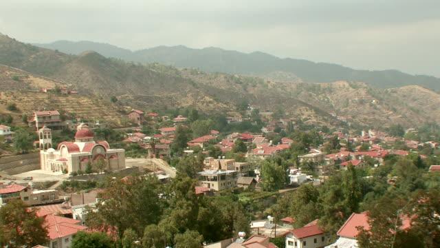 MS View of village on mountains / Kakopetria, Cyprus
