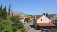 WS View of Village / Rodemack, Lorraine, France