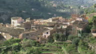 WS View of village with houses and trees / Majorca, Balearic Islands, Spain